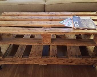 Reclaimed Rustic Pallet Wood Coffee Table