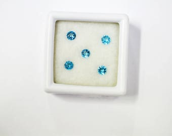 Natural Blue Topaz Round Faceted 4 mm