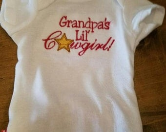 Personalized Cowgirl Ruffle Onesie