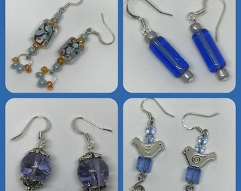 Earrings - Blue designs - 4 options
