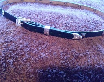 Leather Hatband with studs