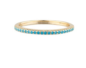 Turquoise Pave Ring