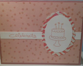 Celebrate with Cake Greeting Card Happy Birthday