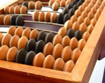 Ancient calculator, Soviet abacus, Vintage computer, the one that was way before electricity, Large wooden abacus