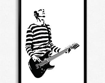 Billy Corgan Art Print - Super Detailed Giclee Print of Smashing Pumpkins and Zwan Frontman - Multiple Sizes and Colors