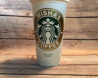 Personalized Starbucks Cup, Custom Starbucks Cup Gift, 16oz Starbucks Cup, Personalized Starbucks Tumbler, Bridal Party Starbucks Cup