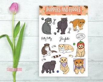 Scottish Fold Cat Kitty Cute Stickers 9PK