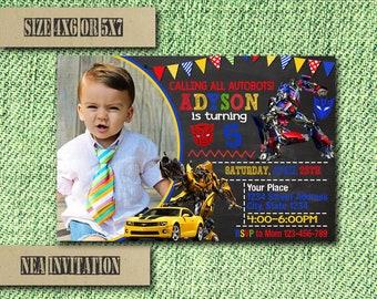 Transformers Invitation / Transformers Birthday Invitation / Transformers Party / Transformers Invite / Transformers Birthday / Transformer