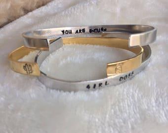 Stamped Cuff Bracelet