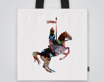 Knight Tote Bag Shoulder Bag Market Bag Art Print
