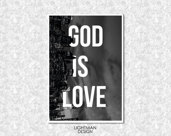 Print GOD is LOVE [Bible quote]