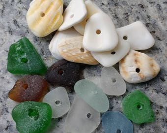 Seaglass and shell thingys!