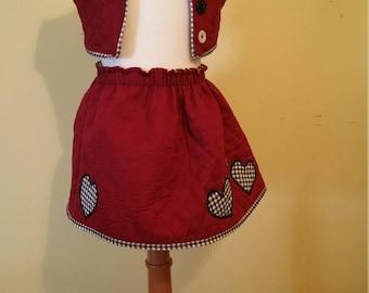 Toddler Skirt and Vest