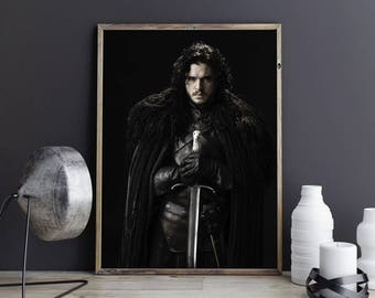 Jon Snow Print Jon Snow Poster Jon Snow Photo Jon Snow Wall Art Jon Snow Wall Decor Jon Snow Art Game Of Thrones Art Seven Kingdoms Westeros