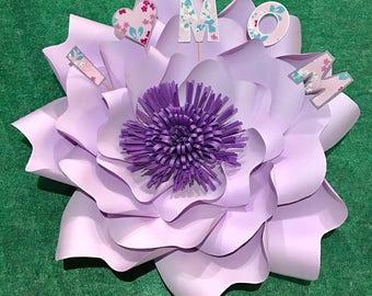 Paper flowers/ birthday card/ card/giant paper flowers/ custom name