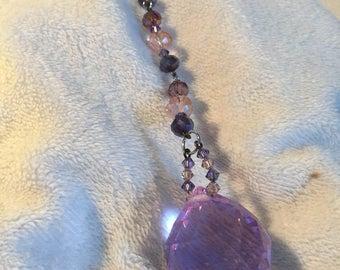 Purple crystal sun catcher