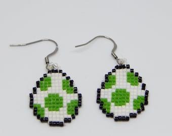 Yoshi egg earring Green