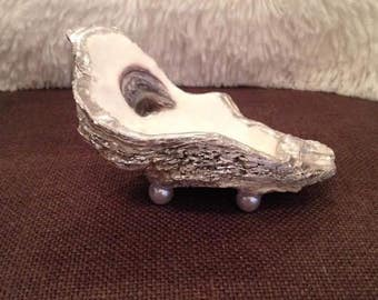 Silver Decorative Oyster Shell