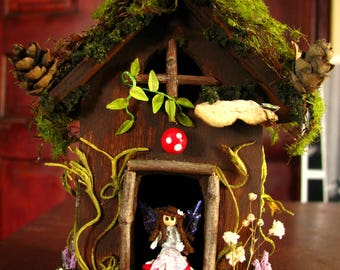Fairy Home-Fairy House-Gnome Home-Fairy-Fairies-OOAK