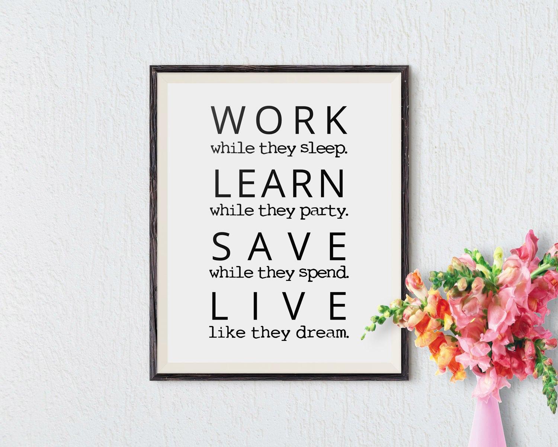 Wall Decor Sayings Inspirational : Office wall art motivational decor inspirational quote