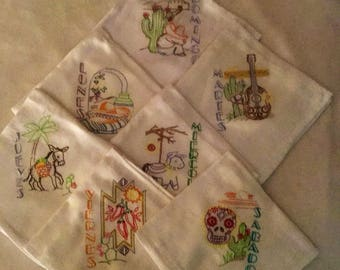7 Flour Sack embroidered towels