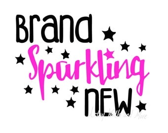 Brand Sparkling New svg cut file, New Baby onesie svg DIY cut file, Brand sparkling new onesie baby shirt DIY, cricut and silhouette  cameo