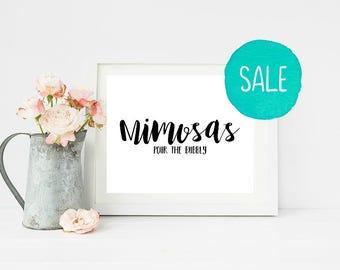Wedding Sign, Wedding Signs, Wedding, Mimosas, SALE, Wedding Decorations, Bridal Shower, Bridal Shower Sign, Wedding Card, Bride To Be