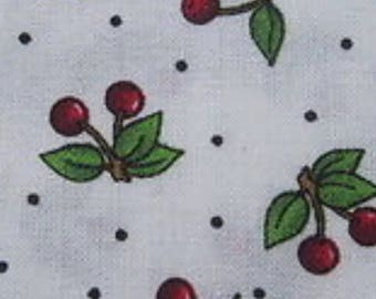 Mary engelbreit fabric white cherry very very cherry material sewing by the yard