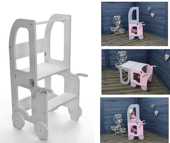 Montessori Kitchen Helper Step Stool For Children Table And