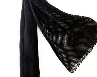 Black Knitted Shawl