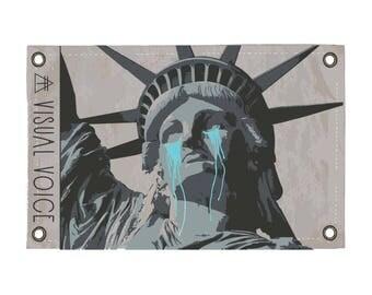 Lady Liberty Canvas Sign