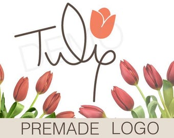 Tulip logo premade vector graphic - high resolution download flower graphic design