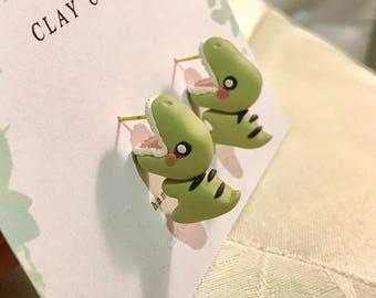 Dinosaur Bite Earrings