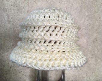 Soft-White Flapper Hat