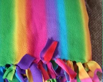 Custom made fleece tie-blanket