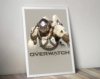 Overwatch WINSTON Poster, Game Poster, Flat Print Design, Digital Printable Poster, Blizzard wall art, Instant Download, game art
