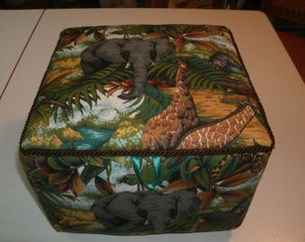 Jungle animal fabric box