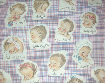 Michael Miller Fabric by the Yard - Little Charmer OOP Retro