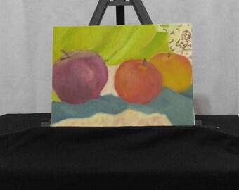 Still life of Three Apples