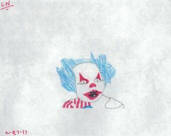 creepy clown set