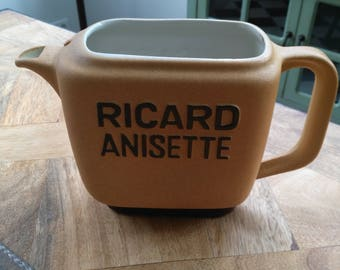 Pitcher/jug Ricard Anisette collectible Original French Vintage