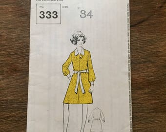 1960 Dress - Pattern No.333.  Bust size 34""