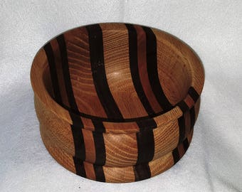 Multi wood art decor bowl