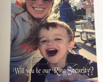 Custom Ring Security Puzzle - Will you be my Flower Girl Puzzle - Custom Photo Puzzle - Matron of Honor Gift  - Bridesmaids Proposal Puzzle