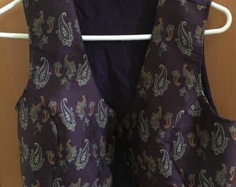 Victoria secret paisley purple vest