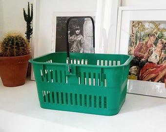 Basket of green vintage race. France 1980