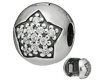 Genuine CHARM SILVER CLIPS for Pandora jewelry Silver S925