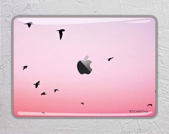 nature landscape photography sunset pink bird MacBook Decal  Macbook Skin Apple MacBook Air Pro or Pro with Retina FSM313