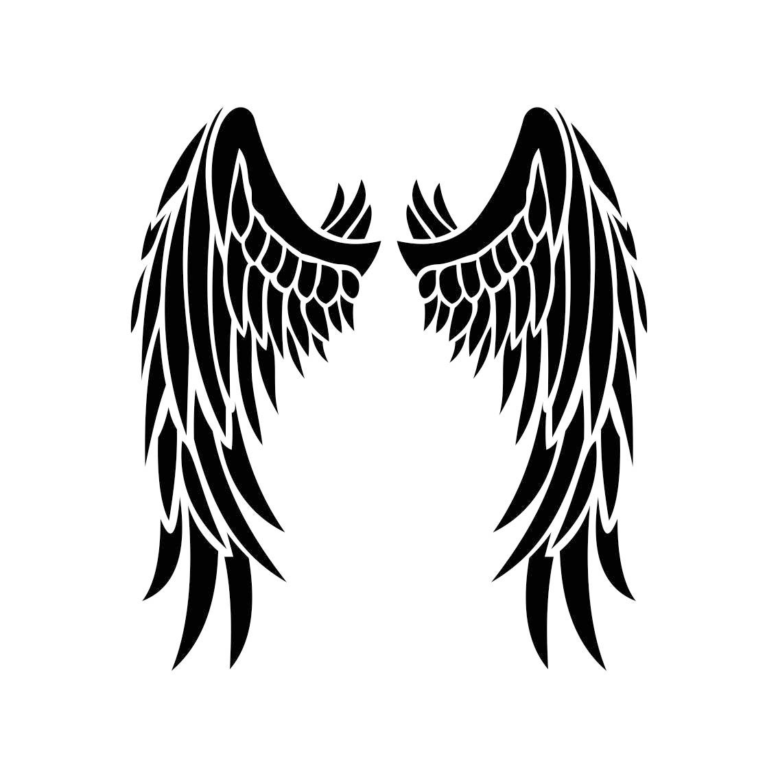 angel wings graphics svg dxf eps png cdr ai pdf vector art angel wings vector clip art angel wing tattoo vector