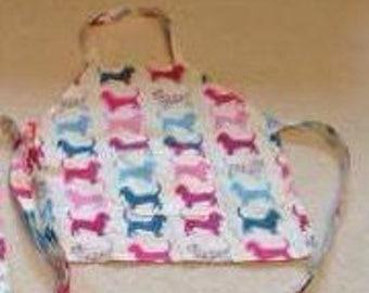 Dachshund child's apron